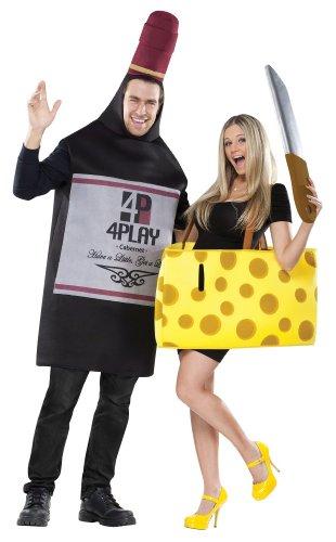 Für Erwachsenen Kostüm Käse - Unbekannt Kostüm für Paare mit Wein und Käse