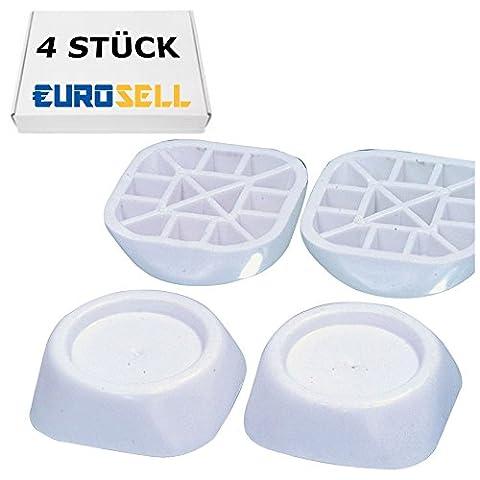 Eurosell Gummi-Schwingungsdämpfer - Vibrationsdämpfer für Füße für Waschmaschinen und Trockner Schwingungs Vibration Dämpfung