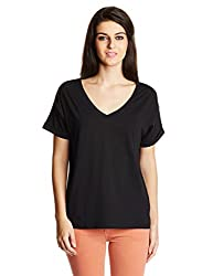 French Connection Womens Body Blouse Tops (76CCF_Black_Medium)