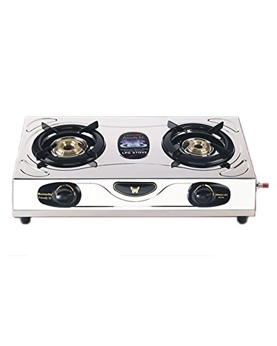 Butterfly1 Friendly Stainless Steel 2 Burner Gas Stove