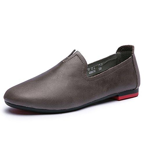 Chaussures de maman et de loisirs//Chaussures plates rondes/Retro semelle souple chaussures antidérapantes à l'automne B