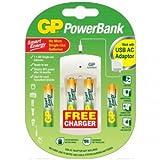 2x AA batería ReCyko + pilas 1000mAh y 2x AAA batería ReCyko + 400mAh recargable con * * Libre * * USB PowerBank cargador | gran paquete de valor por GP Baterías | gran calidad batería recargable Pack