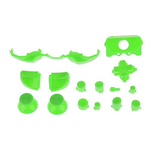 Preisvergleich Produktbild Gazechimp Satz von Ersatz Tasten Joystick-Knöpfe Stoßfänger Trigger Mod für New Microsoft Xbox One Playstation - Grün