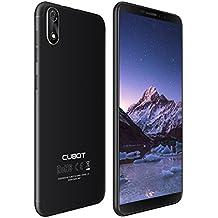 Cubot J3 Dual-SIM Smartphone (12,63 cm (5 Zoll) Full-Wide VGA TN Touch-Display,16GB interner Speicher, Android 8.1 Oreo(Go Edition) Handy Ohne Vertrag, Face ID, GPS/A-GPS) (Schwarz)