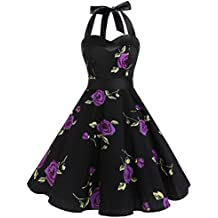Dresstells® Halter 50s Rockabilly Polka Dots Audrey Dress Retro Cocktail Dress