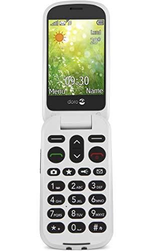 Doro 6050 GSM-Mobiltelefon (3 Megapixel Kamera, Notruftaste, E-Mail) champagner/weiß