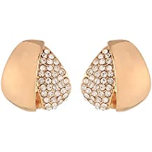 FirstBlush Non-Precious Metal Silver Plated Non Piercing Clip-on Earrings for Non Pierced Ear for Girls and Women