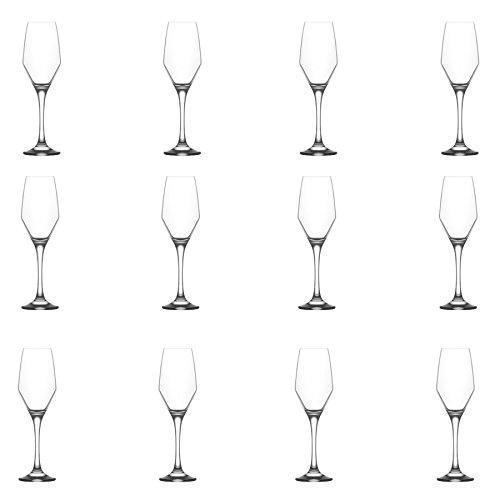 LAV Ella Verre Champagne Tulipes – 230 ML – Lot DE 12 Verres à vin flûtes à Champagne