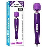 Love Magic Rechargeable Wand Massager -20 speed variations- Full money back guarantee- Purple