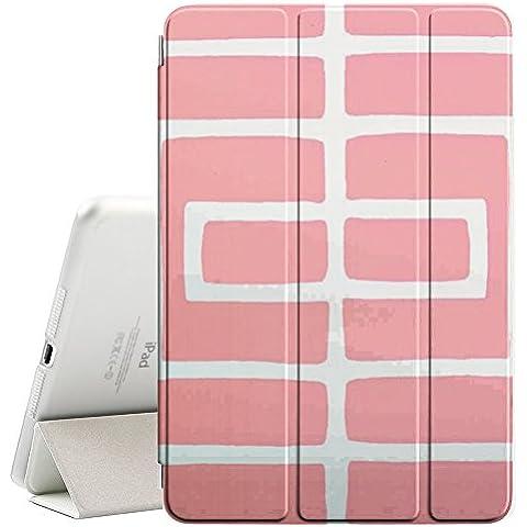 [ MagiX ] Apple iPad Mini 4 - Smart Cover con funzione del basamento di sonno [ White Trelli Peach Lines Pattern