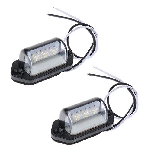 Sharplace 1 Paar LED Kennzeichenbeleuchtung Kennzeichenleuchten für Auto LKW Motorrad