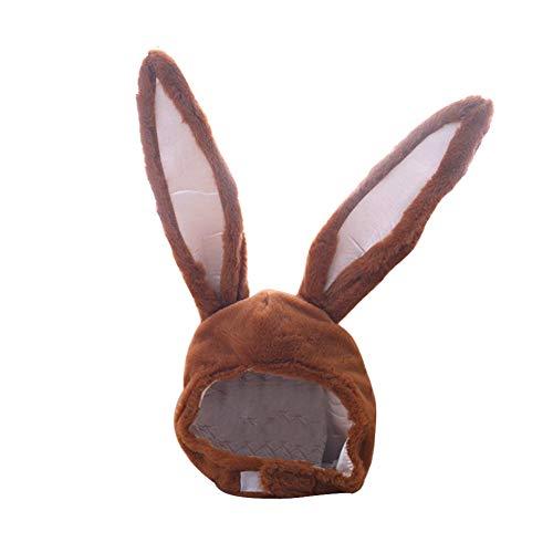 Amorar Damen Mädchen Häschen-Hut-lustiger Plüsch-beweglicher Kaninchen-Ohr-Hut Cosplay Kostüm-Halloween-Ostern-Hut-Ohrenschützer-Earlap-Kopf-Abdeckung Hauben-Foto-Requisiten-Neuheit-Tierhüte