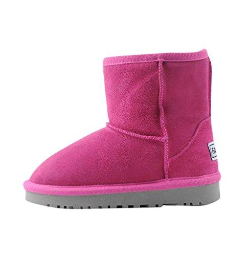 YiJee Enfants Respirant Bottes de Neige épaissir Chaud Plat Chaussures Rose