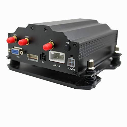 Festplatte, Gps (VCB Hochwertige DH40 4-Kanal AHD HD Festplatte Autorecorder GPS - Schwarz (4G))