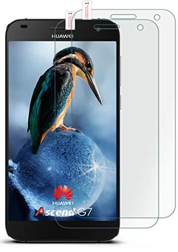 moex 2X 9H Panzerfolie für Huawei G7 | Panzerglas Bildschirm Glasfolie [Tempered Glass] Screen Protector Glas Bildschirmschutz-Folie für Huawei Ascend G7 Schutzfolie