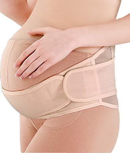 Sofit fascia gravidanza, sostegno premaman fasce, sostegno cintura maternità, fascia maternità traspirante regolabile, color beige