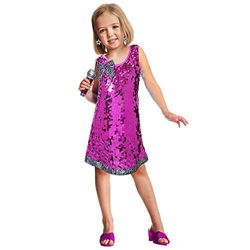 Mädchen Für Promi Kostüme (Mädchen Set Pop Star Kostüm für Musik Kostüm)