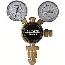 AES w.1060Argon Regulador de gas, uno calibre, entrada inferior