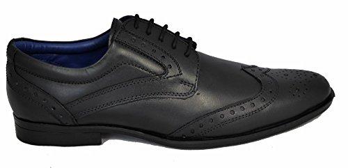 Route 21 , Chaussures de ville à lacets pour homme Noir