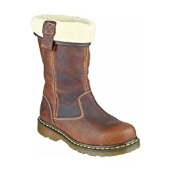 Dr. Martens Ladies Rosa Brown Leather Safety Rigger Work Boots - 41WVIZQSLKL - Dr. Martens Ladies Rosa Brown Leather Safety Rigger Work Boots