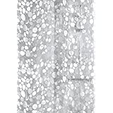 Khushi Creation Pvc Waterproof 3D Shower Curtain 52X82 Inches- 8 Hooks
