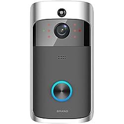 Youn Smart - Timbre inalámbrico con WiFi para Cámara de Seguridad (720p, PIR)