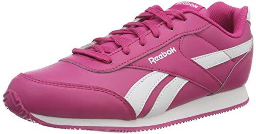 Reebok royal cljog 2, scarpe da fitness unisex-bambini, (pink/white 000), 38 eu