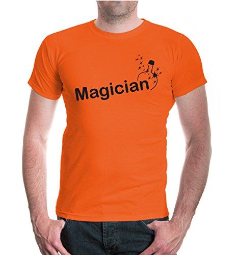 buXsbaum® T-Shirt Magician Orange-Black