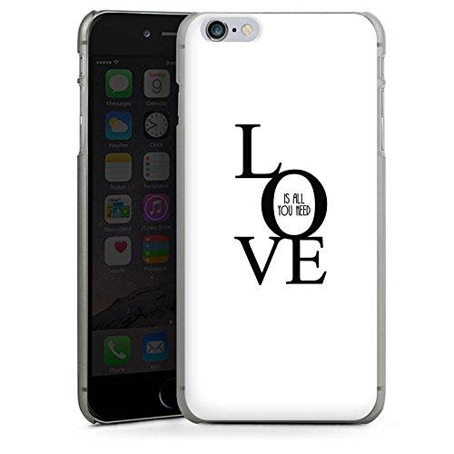 Apple iPhone X Silikon Hülle Case Schutzhülle Love Liebe Sprüche Hard Case anthrazit-klar