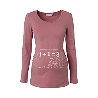 2HEARTS Umstands-Shirt 1+1=3 Umstandsshirt Schwangerschafts-Shirt, Größe 36, rosa