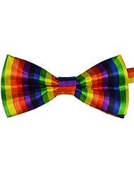 Demarkt Herren/Jungen, vertikal, Regenbogen-Motiv, handgemacht, Querbinder Fliege, Polyester, einfarbig