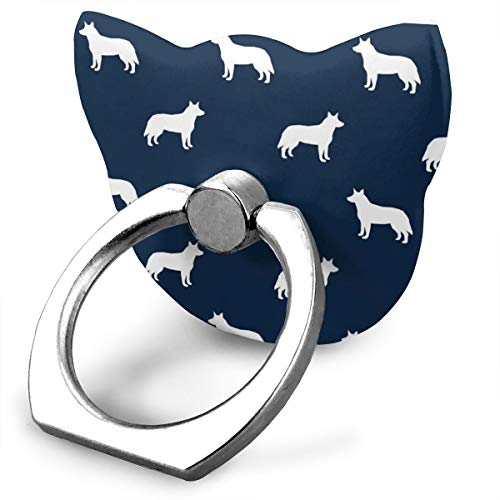 best& Australian Cattle Dog Pet Quilt B Cheater Quilt Silhouette Coordinate_23612 360 Degree Swivel Creative Ring Buckle Bracket Multi-Functional Ring Bracket Stand for Universal Phone Camo Quilt
