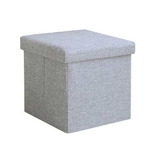 Speicher Ottoman Cube Fußstütze Nachahmung Baumwolle Leinen Klapp Fußhocker Sofa Couchtisch Vielseitig Bank 38 * 38 * 38 cm (Speicher-cube Sitz)