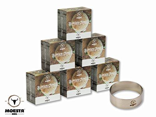 Preisvergleich Produktbild Moesta-BBQ BurgerRing - die Burger Backform - Servierring (Größe XL: 6er)