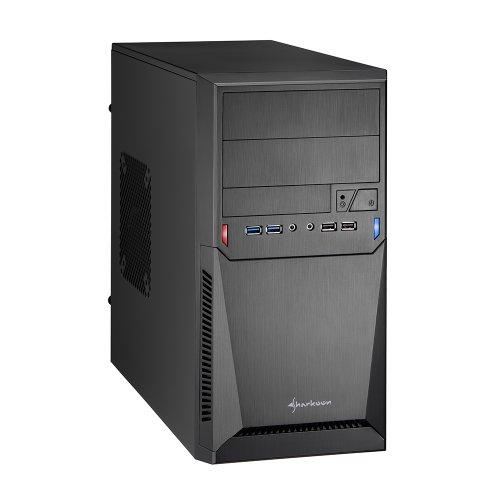 Micro Case (Sharkoon MA-A1000 PC-Gehäuse (mATX, 2x 5,25 externe, 1x 3,5 externe, 2x 3,5/3x 2,5 interne, 2x Audio, 2x USB 2.0, 2x USB 3.0))