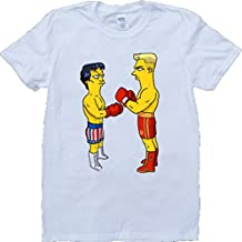 Rocky Y Iván Drago Como Simpsons Blanco Por Encargo T-Shirt