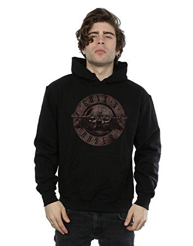 Guns N Roses Herren Sepia Bullet Logo Kapuzenpullover Large Schwarz