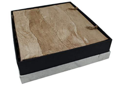 Life arts bark album fotografico realizzato a mano dimensione grande effetto naturale, pagine in stile classico (35cm x 30cm x 7cm)