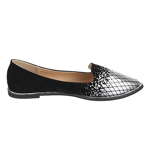 Damen Schuhe, L-1, HALBSCHUHE LEICHTE SLIPPER Schwarz