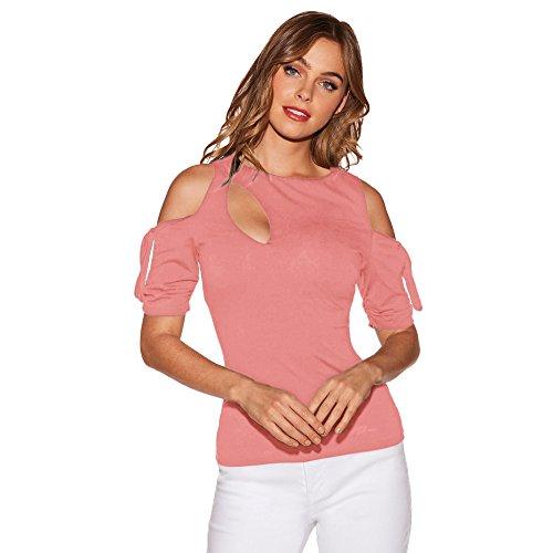 Frauen Mode Schulterfrei Rundhals Kurzarm Bogen Tshirt Bluse Volltonfarbe Sexy Slim Fit Shirt Party Oberteil Elegante Asymmetrisch Freizeit
