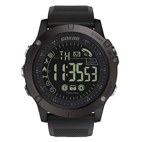 GOKOO Smartwatch Hombre Deporte Reloj fit Inteligente Hombre Fitness T