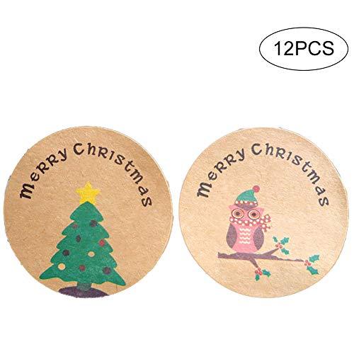 Ouken Feliz Navidad Vinilo Decorativo Cuadrados De