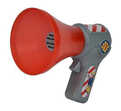 Simba 109258699 - Feuerwehrmann Sam Megaphon mit Stimmenverzerrer