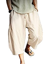 076e3b8352 Harem Pants Breathable Summer Linen Pants Women and Men with Yantra Tattoo  as Alternative Clothing 6