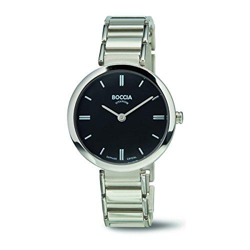 Boccia Damen Analog Quarz Uhr mit Titan Armband 3252-02