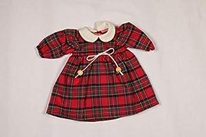Sturm 2631-3 - Vestido de Cuadros para muñecas, Color Rojo