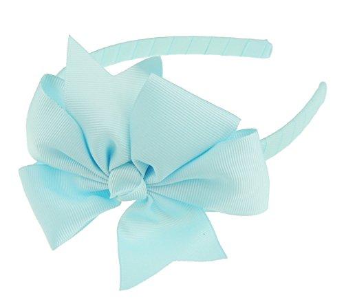 Mädchen, Party, Schule, große Ripsband-Schleife, Haarband, offener Haarreif, 1 cm breit (Ripsband 1)