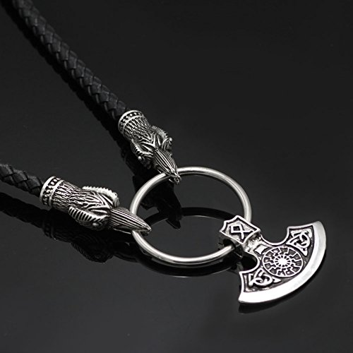 viking berserker products pendant slavic merch axe black