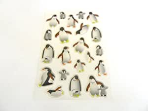 Penguin Stickers for Kids, Children. Labels for Party Bags, Scrap Books, Decoration. Fun Stickers