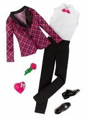 Barbie Fashion Clothing for Ken - Black & Pink Plaid Tux Jacket